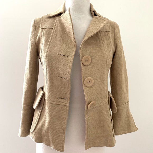 Nanette Lepore Jackets & Blazers - Nanette Lepore Cheek to Cheek Blazer in Twig